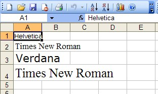 Times New Roman and other fonts in generated spreadsheet