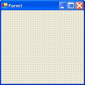 Blank form in C# project