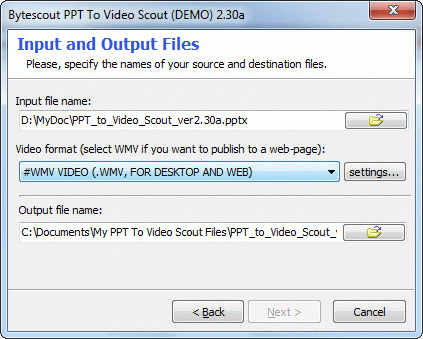 Select PPT or PPTX file to convert to video