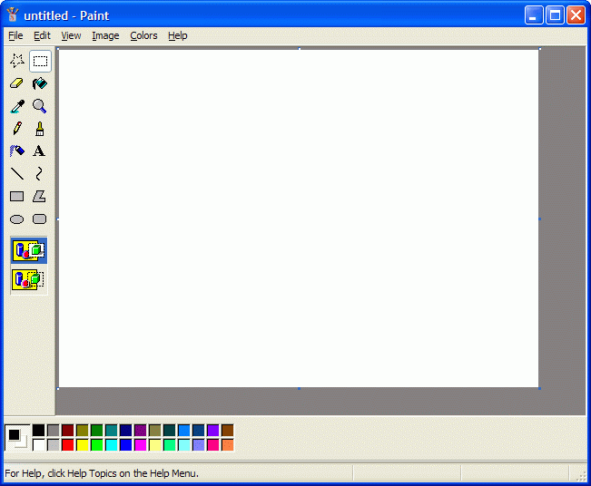 Windows Paint launched with new Untitled drawing by default