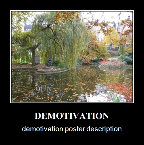 Demotivational Poster sample made with Bytescout Watermarking utility