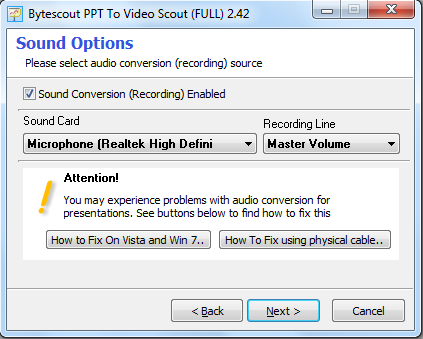 Add webcam video with sound to PowerPoint presentation